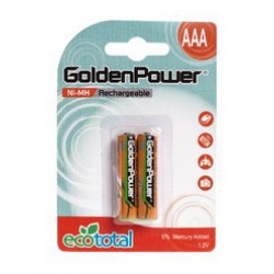 Акумулятор GOLDEN POWER AAA 900 mAh BLI 2 Ni-MH,36623